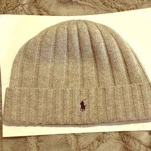 POLO BEANIE GREY ONE SIZE FITS ALL